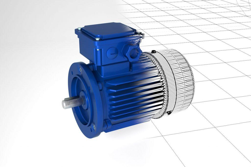 Elektomotor 3D Rendering Stefan Eder