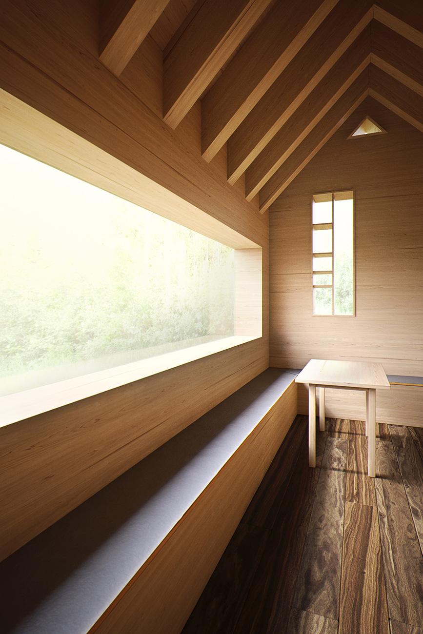Holz Arch 3D Rendern OÖ