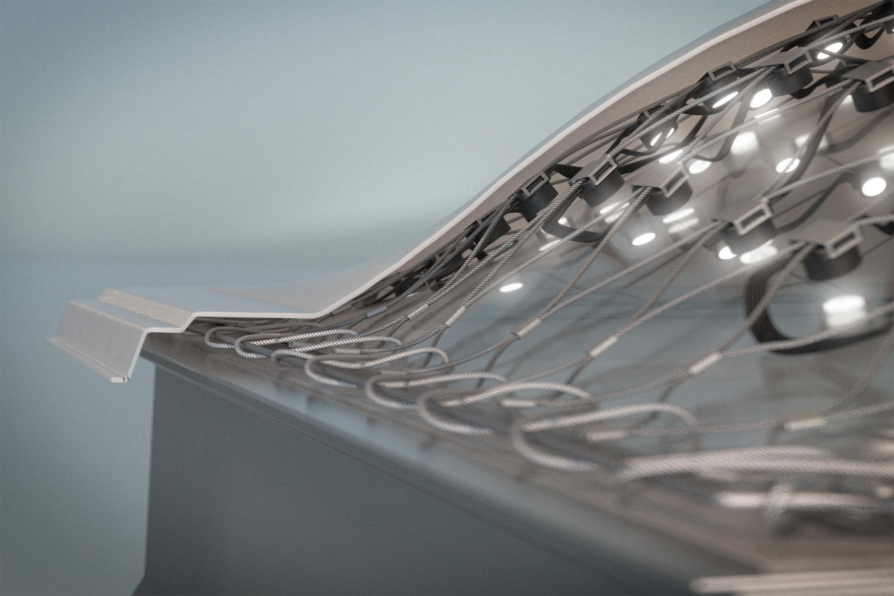 3D Rendering LED Netz