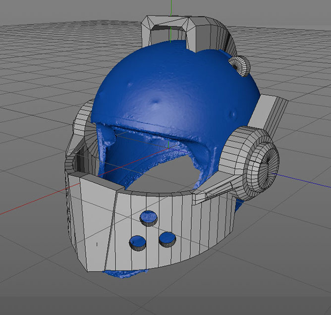Lego Nexo Knight Helmet DIY 3D Model