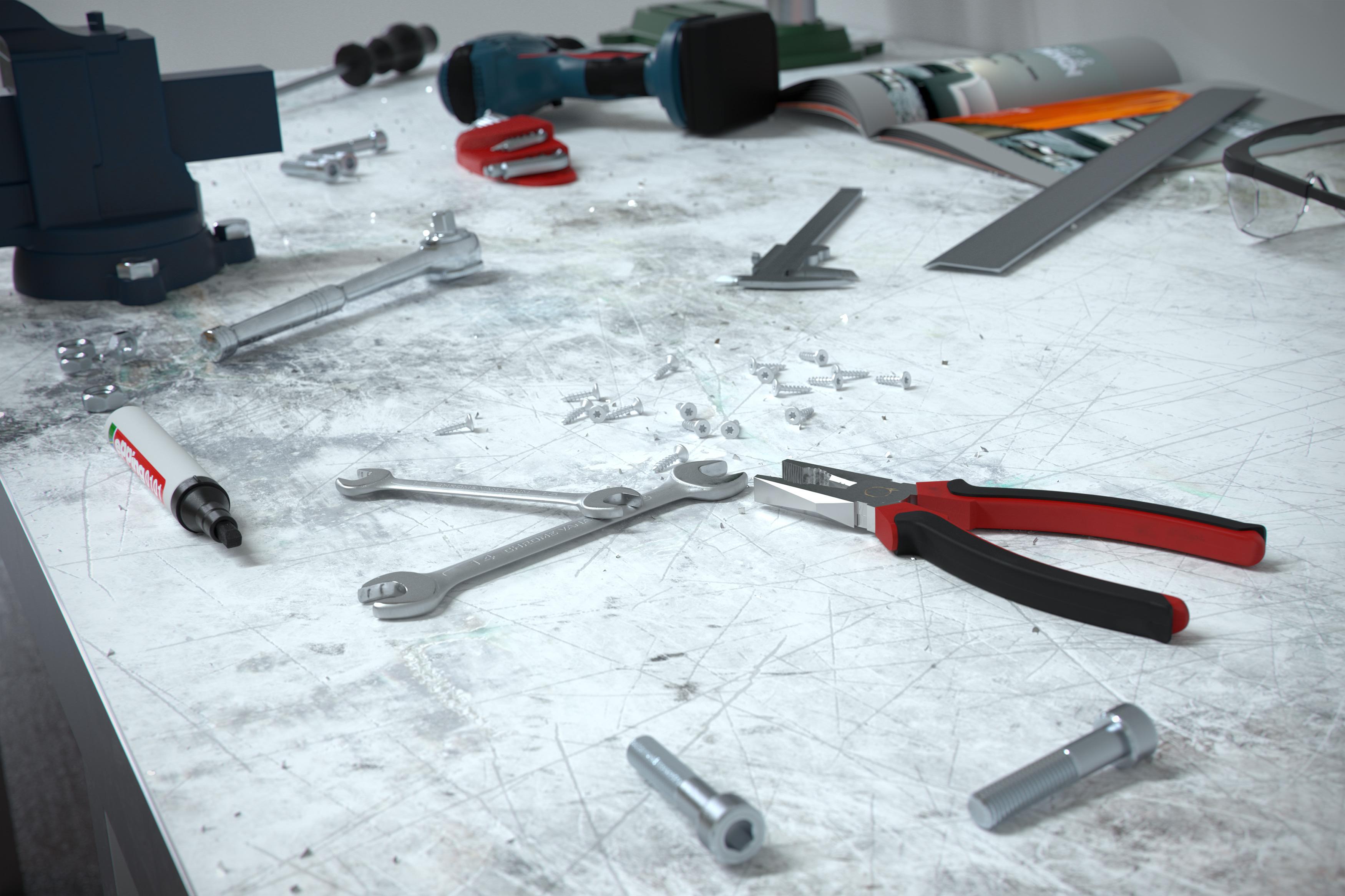 Werkstatt Produkt Rendering Österreich Maschine Eder