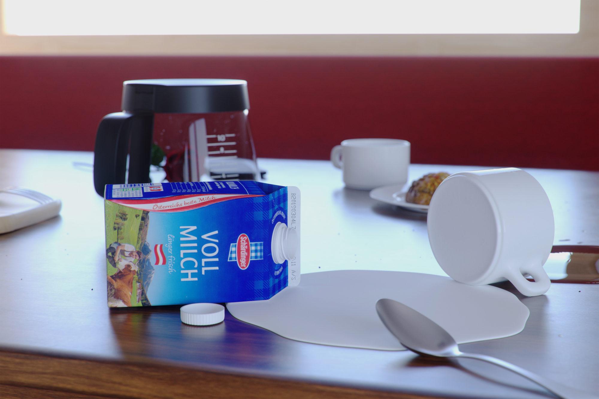 3D Rendering Produkt Milchpackung Stefan Eder