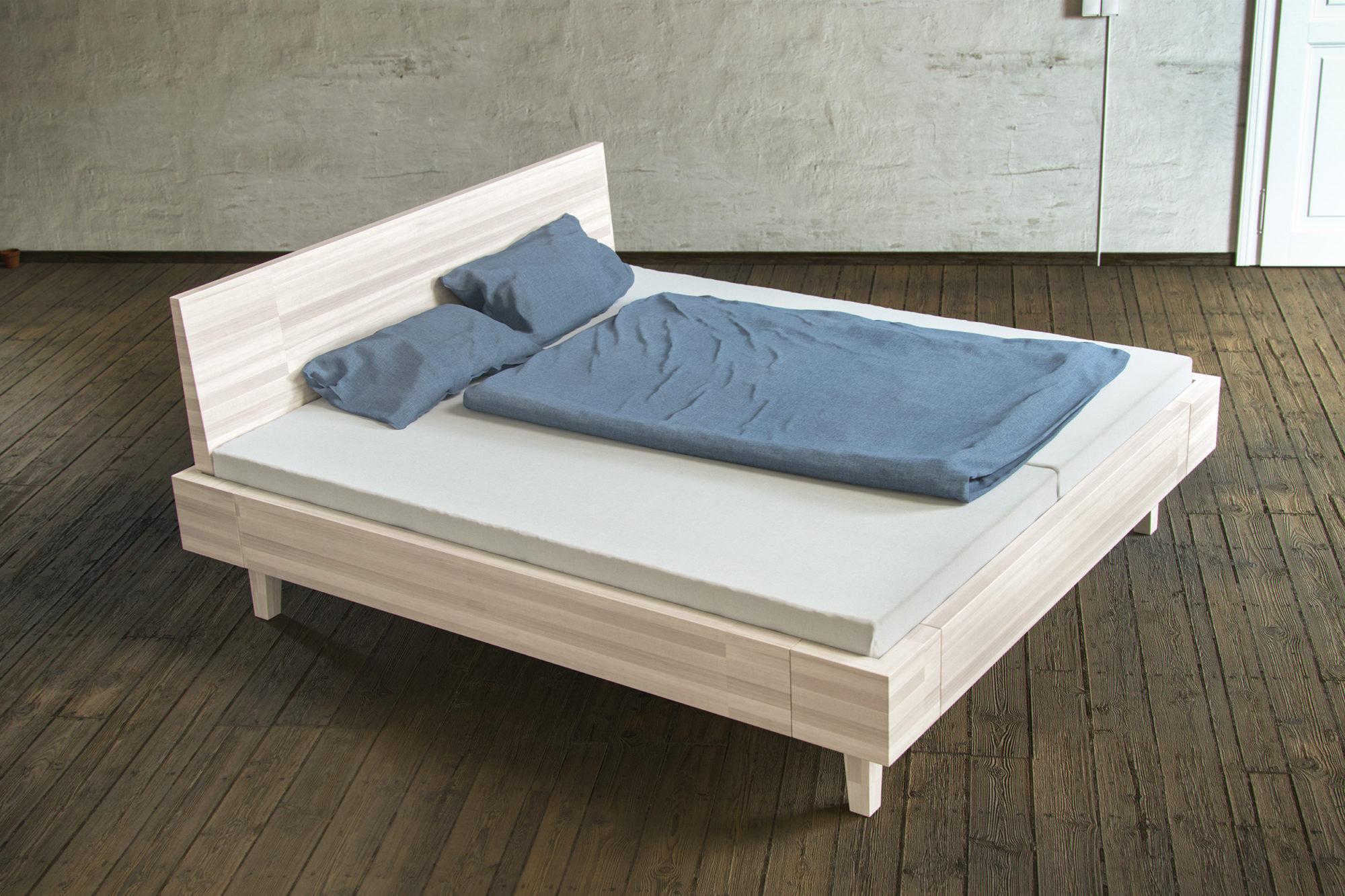Zirbenbett Bett Schlafzimmer 3D Rendering Stefan Eder Oberösterreich