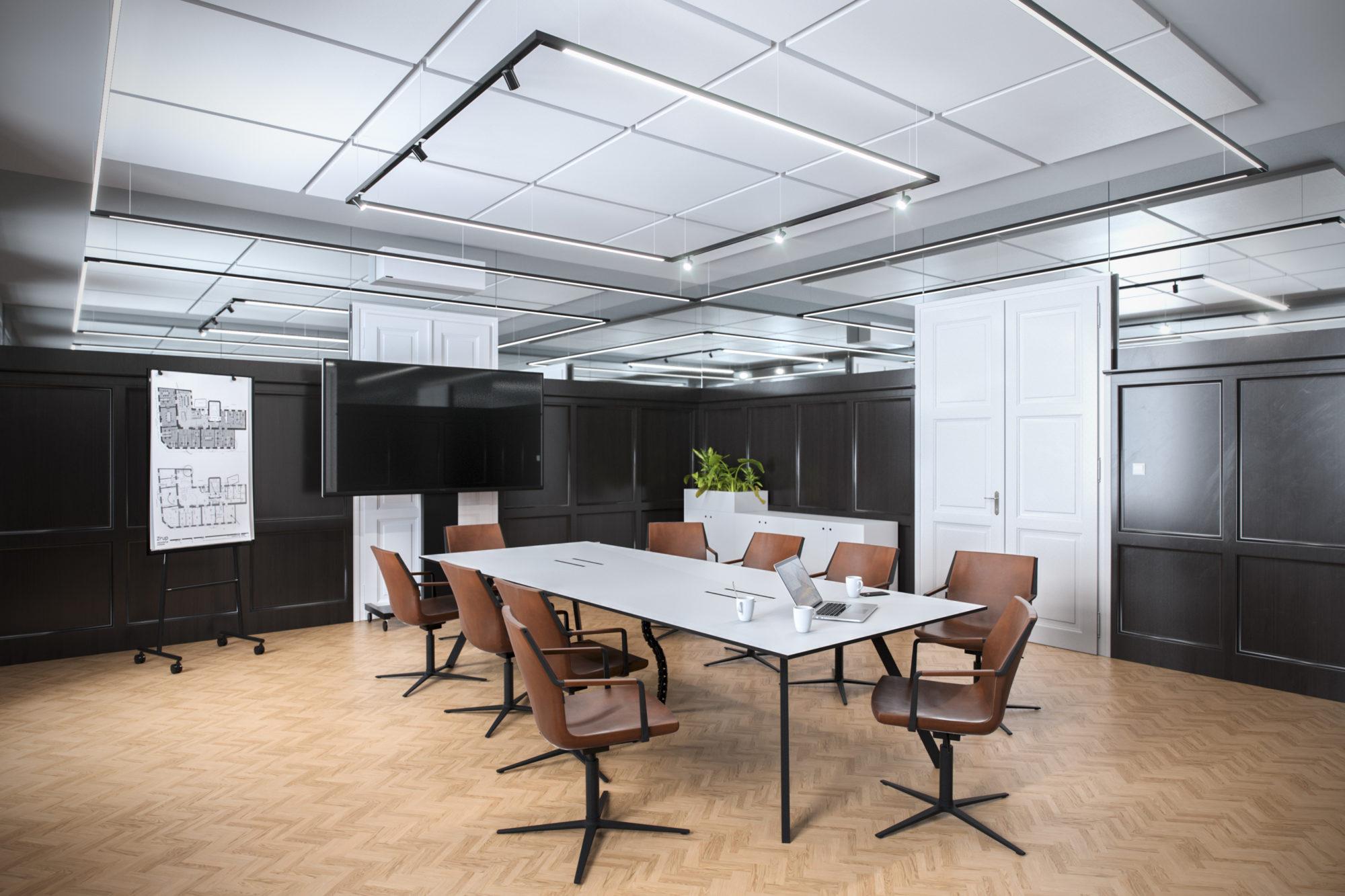 3D Rendering Eder Stefan Oberösterreich Innenraum Sessel Tisch Raum Altbau