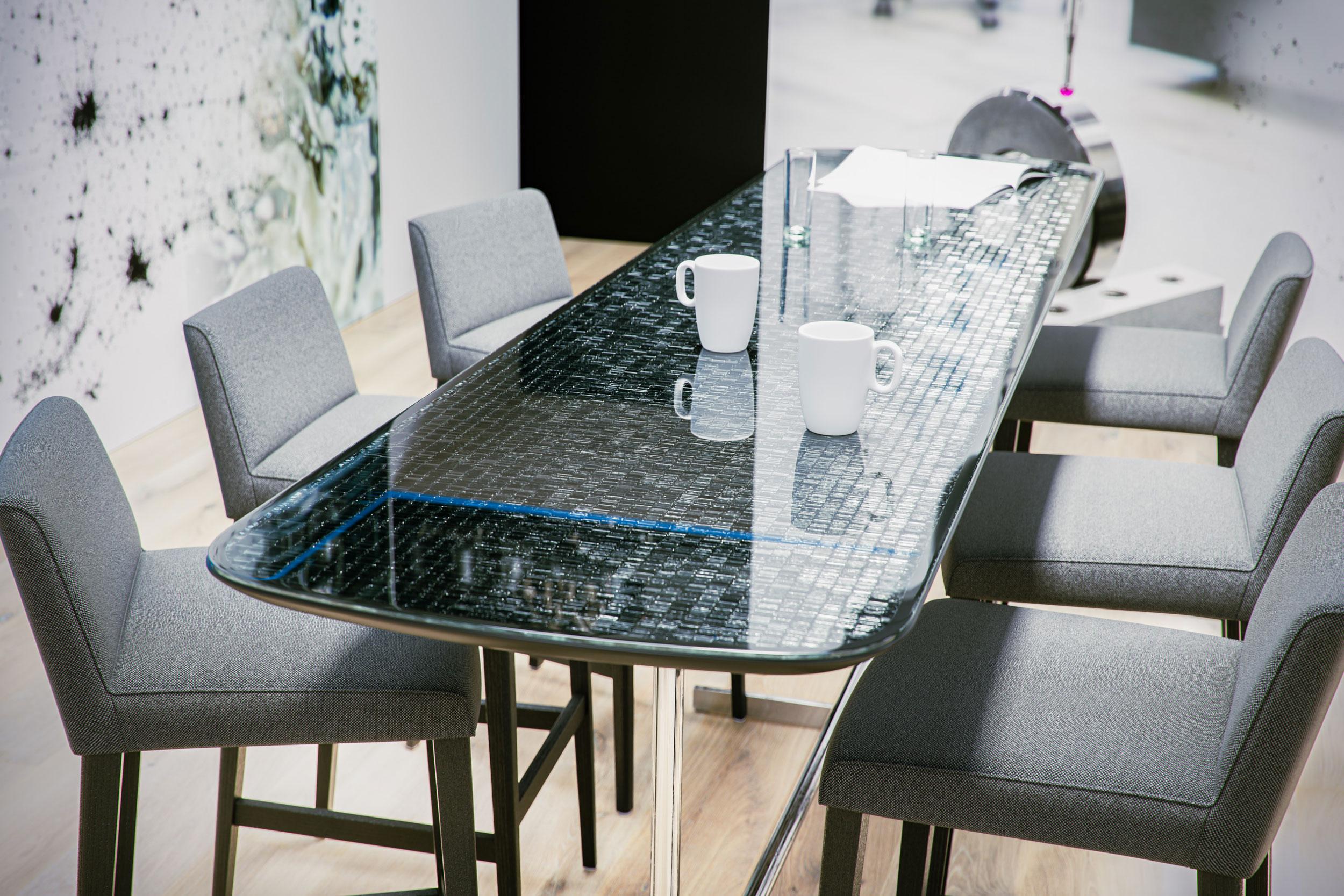 Tisch Messestand Rendering 3D Eder Stefan Österreich